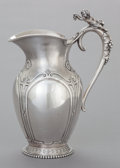 Silver Holloware, American:Water Pitchers, A WOOD & HUGHES SILVER WATER PITCHER. Wood & Hughes, NewYork, New York, circa 1885. Marks: W&H, STERLING. 13-1/4inches...