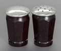 Silver Smalls, A WILLIAM SPRATLING MEXICAN SILVER AND ROSEWOOD SALT AND PEPPERSHAKER SET. William Spratling, Taxco, Mexico, circa 1965-196...(Total: 2 Items)