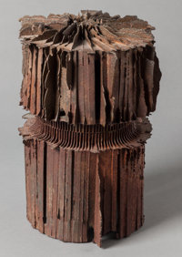 JULIUS SCHMIDT (American, b. 1923) Untitled (Small Tower), 1991 Iron 11-1/2 x 7-1/2 x 7-1/2 inche