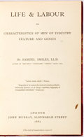 Books:Biography & Memoir, Samuel Smiles. Life and Labour. London: John Murray, 1887.First edition. Twelvemo. Half calf and marbled paper over...