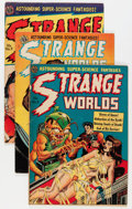 Golden Age (1938-1955):Science Fiction, Strange Worlds #5, 7, and 9 Group (Avon, 1951-52) Condition:Average GD/VG.... (Total: 3 Comic Books)