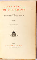 Books:Literature Pre-1900, Lord Lytton. The Last of the Barons. London: G.J. Howell,[n.d.]. Volume one only. Octavo. Half calf and cloth over ...