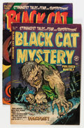 Golden Age (1938-1955):Horror, Black Cat Mystery #40 and 45 Group (Harvey, 1952) Condition:Average VG+.... (Total: 2 Comic Books)