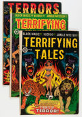 Golden Age (1938-1955):Horror, Terrifying Tales/Terrors of the Jungle Group (Star Publications,1952-54) Condition: Average VG-.... (Total: 6 Comic Books)