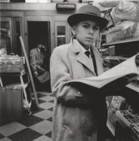 DIANE ARBUS (American, 1923-1971) Boy Reading a Magazine, N.Y.C., 1956 Gelatin silver, printed later