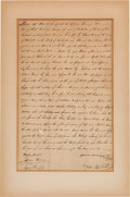 Autographs:Statesmen, [Slavery]. 1810 Slave Bill of Sale....