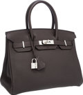 Luxury Accessories:Bags, Hermes 30cm Graphite Togo Leather Birkin Bag with PalladiumHardware. ...