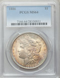 Morgan Dollars: , 1886 $1 MS64 PCGS. PCGS Population (41173/17497). NGC Census:(51275/26479). Mintage: 19,963,886. Numismedia Wsl. Price for...