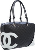 Luxury Accessories:Bags, Chanel Black Quilted Lambskin Leather Oversize Cambon Tote Bag. ...