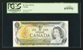 Canadian Currency: , BC-46a-i $1 1973 Solid Nine Serial Number. ...