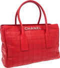 Luxury Accessories:Bags, Chanel Red Antiqued Lambskin Leather Cerf Tote Bag with GunmetalHardware. ...