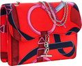 "Luxury Accessories:Bags, Hermes Red & Pink ""Eperon d'Or,"" by Henry d'Origny Silk ScarfCantenina Bag with Farandole Hardware. ..."