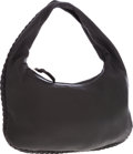 Luxury Accessories:Bags, Bottega Veneta Black Leather Classic Hobo Bag with Braided Piping....