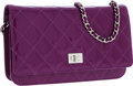Luxury Accessories:Bags, Chanel Violet Patent Leather Wallet on Chain Crossbody Bag. ...
