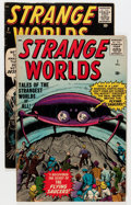 Silver Age (1956-1969):Science Fiction, Strange Worlds #1 and 2 Group (Marvel, 1958-59) Condition: AverageVG.... (Total: 2 Comic Books)