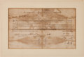 Autographs:Military Figures, 1776 Virginia Committee of Safety Military Appointment....