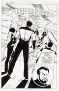 Original Comic Art:Splash Pages, Peter Krause and Pablo Marcos Star Trek: The Next Generation#43 Splash Page 3 Original Art (DC, 1993)....