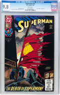 Modern Age (1980-Present):Superhero, Superman #75 CGC-Graded Group (DC, 1993) CGC NM/MT 9.8 Whitepages.... (Total: 3 Comic Books)