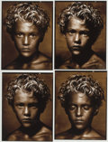 Photographs:Pigment ink print, ALBERT WATSON (Scottish, b. 1942). Golden Boy, Contact, New YorkCity, 1990-92. Pigment print. 29-1/2 x 23-1/2 inches (7...