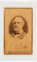 Autographs:Military Figures, Robert E. Lee Carte de Visite Signed...