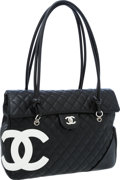 Luxury Accessories:Bags, Chanel Black Quilted Lambskin Leather Large Cambon Flap Bag. ...