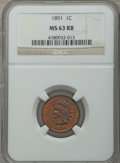 Indian Cents: , 1891 1C MS63 Red and Brown NGC. NGC Census: (98/253). PCGSPopulation (138/242). Mintage: 47,072,352. Numismedia Wsl. Price...