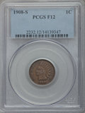 1908-S 1C Fine 12 PCGS. PCGS Population (179/2425). NGC Census: (67/1701). Mintage: 1,115,000. Numismedia Wsl. Price for...