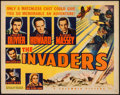 """Movie Posters:War, The Invaders (Columbia, 1941). Half Sheet (22"""" X 28"""") Style B.War.. ..."""