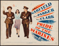 "Movie Posters:War, Pride of the Marines (Warner Brothers, 1945). Trimmed Half Sheet(21.5"" X 28"") Style B. War.. ..."