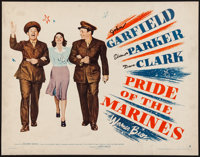 """Pride of the Marines (Warner Brothers, 1945). Trimmed Half Sheet (21.5"""" X 28"""") Style B. War"""