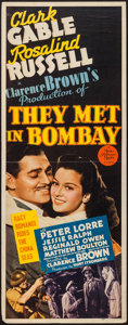 "Movie Posters:Adventure, They Met in Bombay (MGM, 1941). Insert (14"" X 36""). Adventure.. ..."