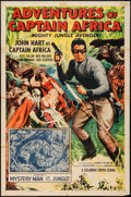 """Movie Posters:Serial, Adventures of Captain Africa (Columbia, 1955). One Sheet (27"""" X 41"""") Chapter 1 --""""Mystery Man of the Jungle!"""" Serial.. ..."""