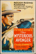"""Movie Posters:Western, The Mysterious Avenger (Columbia, 1936). One Sheet (27"""" X 41""""). Western.. ..."""
