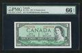 Canadian Currency: , BC-37bA $1 1954 Replacement Note *I/O Prefix. ...