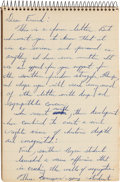 Autographs:Celebrities, Martin Luther King Jr. Autograph Letter (Draft) Unsigned....