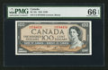 Canadian Currency: , BC-43c $100 1954 C/J Prefix. ...