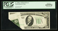 Error Notes:Foldovers, Fr. 2009-G $10 1934D Federal Reserve Note. PCGS Gem New 65PPQ.. ...