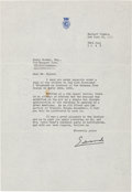 Autographs:Non-American, Edward VIII Typed Letter Signed...