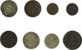 Advertising:Small Novelties, Philadelphia Merchant Counterstamps on United States and ForeignCoins. Included are C.M. Berry Saloon counterstamped on a d...(Total: 8 pieces)