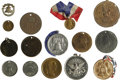 General Historic Events:Expos, 1876 Centennial Exposition-Philadelphia- Smaller Tokens, Medals,and Metallic Pinbacks. Themes include Independence Hall, Li...(Total: 39 pieces)