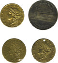 General Historic Events:Expos, Pennsylvania Embossed Shellcards and Centennial Exposition Medal.Included are: Peter E. Buck Ashland Pa., 1868 Liberty Head...(Total: 4 pieces)