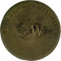 """Political:Inaugural (1789-present), George Washington 1789 Inaugural Shank Button. This """"Long Live the President"""" variety is always a collector favorite. It com..."""