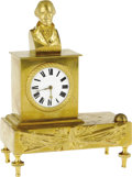 Political:3D & Other Display (pre-1896), Superb Early Gilt Brass George Washington Clock. A classic clock by Richard Durrant (1776-1866), made in the English town of...