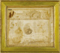 Political:Textile Display (pre-1896), Unusual General LaFayette Framed Textile. This lot features aframed and remarkably well-preserved textile honoring Marquis ...