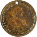 Political:Tokens & Medals, Very Scarce Martin Van Buren 1840 Campaign Medalet. Listed by Sullivan as MVB 1840-8. A clean example with pleasing medium c...