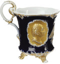Antiques:Decorative Americana, Stunning Early Benjamin Franklin / George Washington MeissenPorcelain Footed Cup. Probably dating from late in the second q...