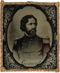 Photography:Ambrotypes, Very Rare John C. Frémont Ambrotype, Possibly an 1856 Campaign Item. The image is actually a photographic image of an engrav...