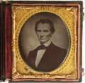 """Photography:Ambrotypes, Abraham Lincoln 1/6th Plate Ruby Ambrotype. Matthew Brady's flattering 1860 """"Cooper Union"""" portrait of Abraham Lincoln was r..."""