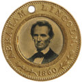 Political:Ferrotypes / Photo Badges (pre-1896), Choice 1860 Lincoln/Hamlin Campaign Ferrotype, Featuring the MostPopular Lincoln Pose. A virtually pristine example, with f...