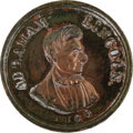 Political:Tokens & Medals, Scarce 1860 Lincoln Campaign Medal Variety. AL 1860-3 in Sullivan, brass. Choice condition but for some odd white deposits a...